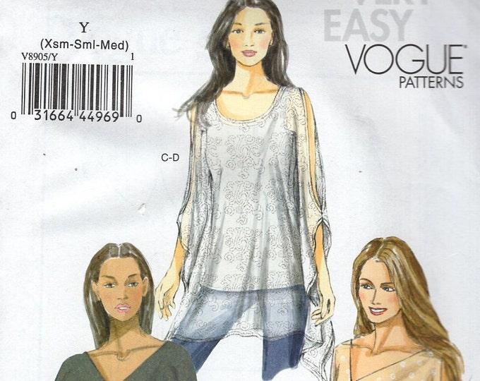 Vogue 8905 Free Us Ship Sewing Pattern Funky Blouson Top Blouse Size Size Xs M l xl xxl  4/14 16/26 Bust 29 30 31 32 34 36 38 40 42 44 46 48