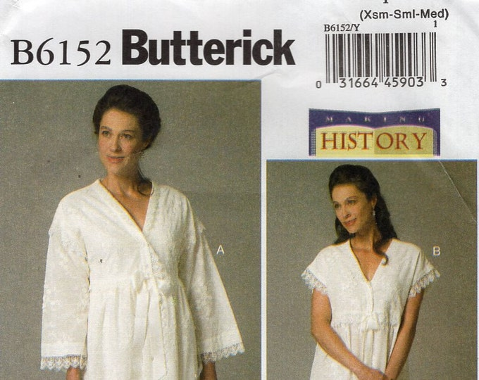 Butterick 6152 Free Us Ship Making History Nightgown Robe Ruffle Lingerie 4 /14 Bust 29 30 32 34 36  (Last size left) Sewing Pattern 2010