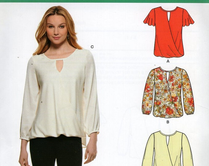 New Look 6303 Easy Blouse Blouson Sleeve Variations  New-Out of Print 8/20 Size 810 12 14 16 18 20 Sewing Pattern Bust 31 32 34 36 38 40 42