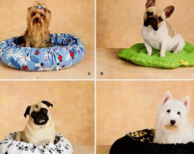 Free Us Ship Sewing Pattern Simplicity 2297 Crafts Animal Pet Dog Cat Bed Sleeping Bag Bed Pillow Uncut Ida Fry Designer