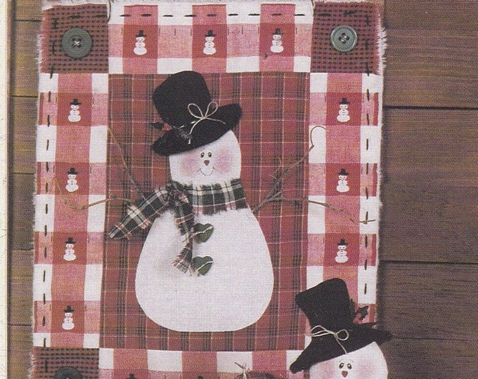 FREE US SHIP Out of Print Unused Craft Christmas Simply Friends Jack Frost Quilt Snowman 107 Includes wood hearts 1993