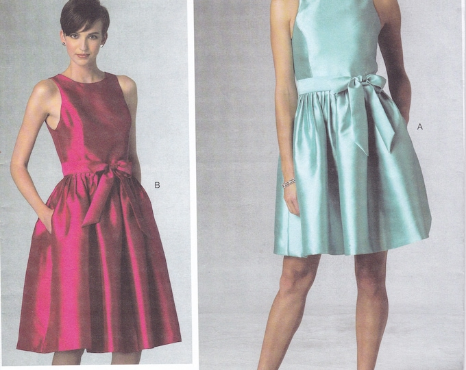 FREE US SHIP Vogue 1434 New York Designer Isaac Mizrahi Cocktail Dress Size 6 8 10 12 14 16 18 20 22 Bust 30 31 32 34 36 38 40 42 44 New