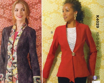 Kwik Sew 4029 Sewing Pattern Free Us Ship Jacket Shaped Princess Seams Plus Size XS-XL Bust 30 32 34 36 38 40 42 44 45 Uncut 2013