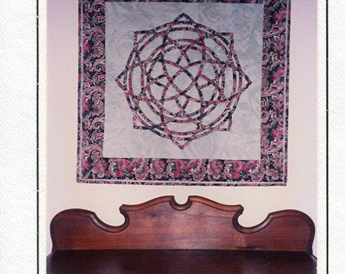 Free Us Ship Cabin Fever Crafts Quilt Irish Celtic Medallion 1992 Quilt Craft Sewing Pattern