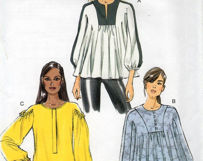 Free Us Ship Sewing Pattern Vogue 9059 Loose Fitting Yoked Tunic Top Size 4/14 Bust 29 30 31 32 34 36 (Last size left)  New
