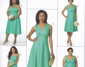 FREE US SHIP Butterick 5461 Sewing Pattern Wedding Bridesmaid Dress Size 8 10 12 14 16 18 20 22 24  Bust 30 32 34 36 38 40 42 44 46  New