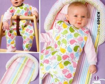 Free Us Ship Sewing Pattern Kwik Sew 3969 Baby Babies Changing Pad Bib Uncut Out of Print