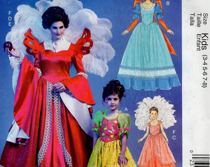 FREE US SHIP Sewing Pattern McCall's 240 6629 Girl's Miss Fairy Godmother Costumes Wings Halloween Costume Size 3-8 Miss 8/22