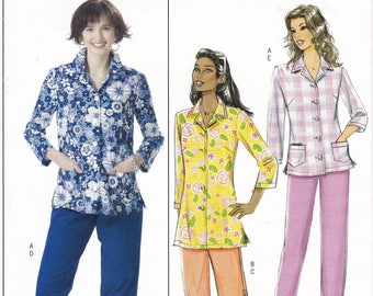 FREE US SHIP Butterick 4555 Sewing Pattern Elastic Waist Pants Capris Shirt Top  Size 8 10 12 14 Bust 31.5 32.5 34 36 Factory Folded