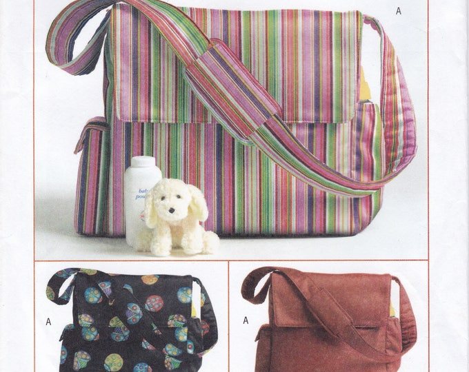 FREE US SHIP Butterick 4560 Baby Babies Diaper Bag Factory Folded Sewing Pattern 2005