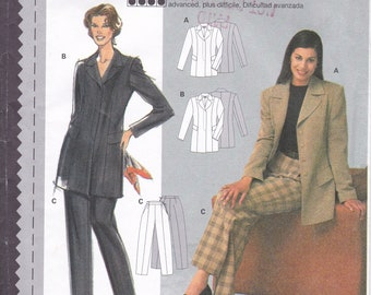 FREE US SHIP Sewing Pattern Burda 3121 Size 10 12 14 16 18 20 Bust 32 34 36 38 40 42 Plus Uncut  Pantsuit Jacket Pants Uncut Couture