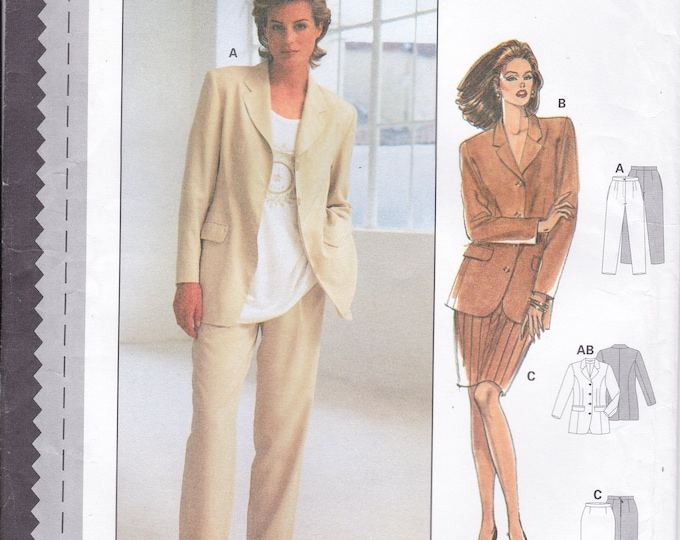 FREE US SHIP Burda 3488 Sewing Pattern Top Jacket Pants Skirt Size 8 10 12 14 16 18 Bust 31 32 34 36 38 40 Uncut Factory Folded