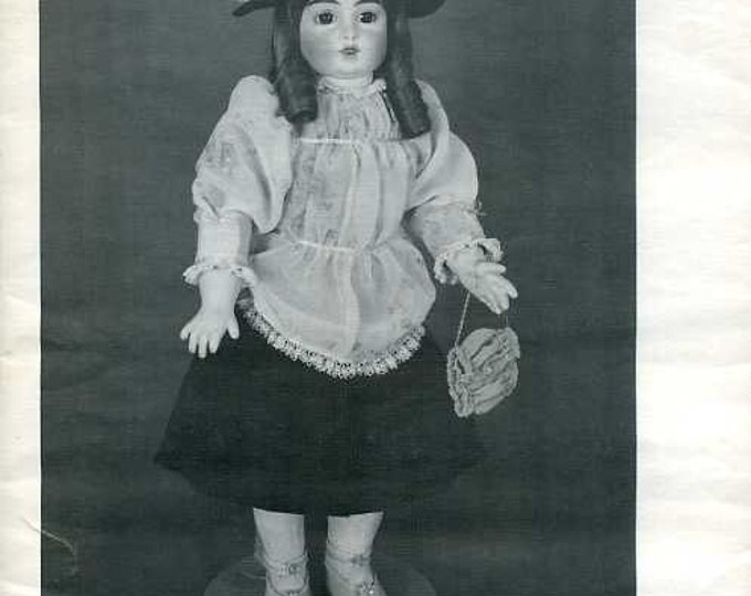 """FREE US SHIP Byron Doll Pattern 1980's 125 Fits 22"""" doll Dress Hat Purse Doll clothes   Sewing Pattern"""