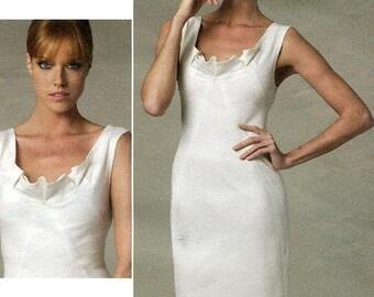 Free US Shipping Vogue 1218 Designer Donna Karan DKNY Bias V Wiggle Dress 2011 Size 4 6 8 10 Bust 29.5 30.5 31.5 32.5 (Last size left)