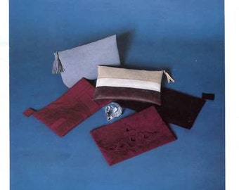 FREE US SHIP Needle Knows Five Evening Clutch Bag  or Eyelet Purses 1994 Craft Sewing Pattern Old store stock