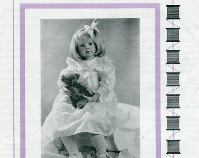 Free usa Ship Seely's Modern Doll Art KERSTIN PARTY DRESS 1998 New Craft Out of Print Old Store Stock Sewing Pattern