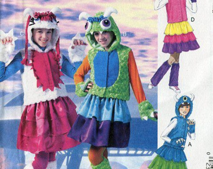 FREE US SHIP McCall's 6816 Monster Hoody Jacket Costumes Fingerless glove paws Uncut Sewing Handmade Craft Pattern