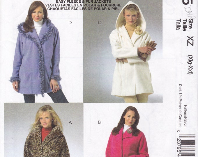FREE US SHIP McCall's 4975 Palmer Pletsch Sewing Pattern Classic Fit Car Coat Jacket Hoody Size 20 22 24 26 Bust 42 44 46 48 Factory Folded