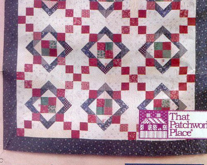 Free Us Ship Butterick 5732 9 Patch Anut Nancy's Quilt Pillow Patchwork Place 1998 Craft Sewing PatternCraft Sewing Pattern
