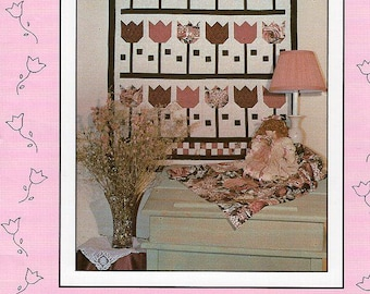 FREE US SHIP Debbie Mumm Mumm's The Word Craft Sewing Pattern Quilt Springtime Tulips 1986 Out of Print Craft Sewing Pattern Folk Art