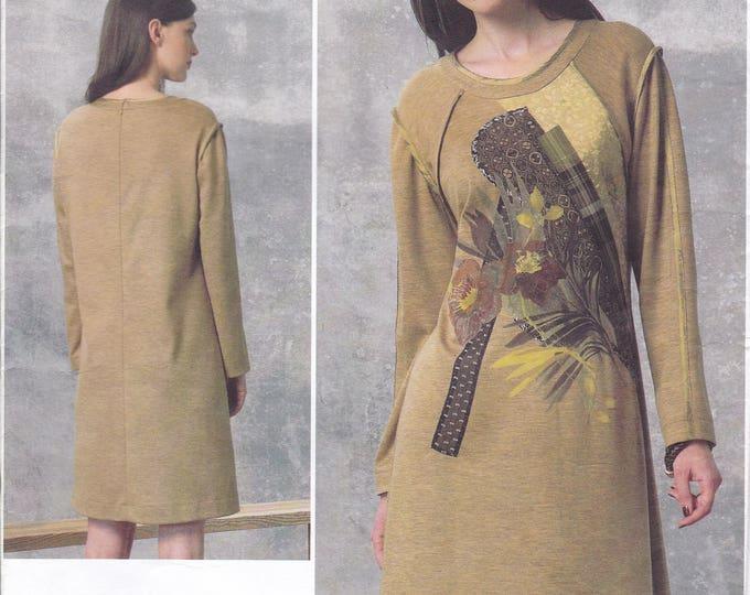 FREE US SHIP Vogue 1459 Designer Koos Couture Quilt Flower Applique Dress New Size 8/16 16/24 Bust 30 32 34 36 38 40 42 44 46 plus size