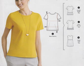 FREE US SHIP Simplicity 0658 8376 Sewing Pattern Hacking Easy Top Pullover Shirt Size 4/26 Bust 29 30 31 32 34 36 38 40 42 44 46 48  New