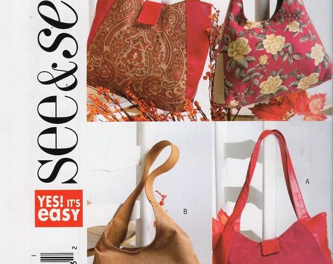 Butterick 4271 Sewing Pattern Free Us Ship Tote Bag Purse Handbag  Purse New Out of Print 2004