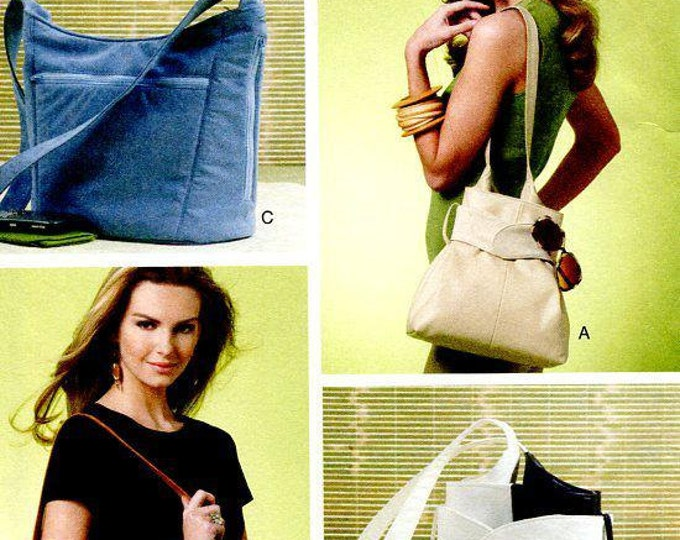 FREE US SHIP Vogue 8661 Craft Accessories Purse Tote Hand Bag Handbag New Out of Print 2010 Sewing Pattern