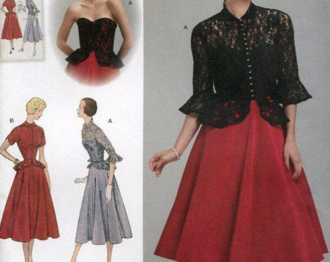 3f9960e8c78dde FREE US SHIP Vintage 50 s Sewing Pattern Simplicity 1250 Retro 1950 s Dress  Jacket Bodice Overlay Bust