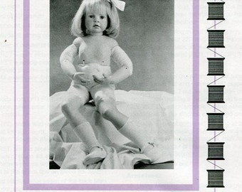 Free usa Ship Seely's Modern Doll Art KERSTIN Body Pattern P516 1998 Craft Out of Print Old Store Stock Sewing Pattern