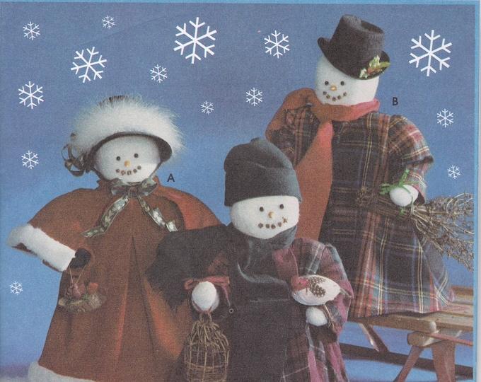 Free Us Ship Craft Sewing Pattern Simplicity 9265 Snowmen Snowman Carolers Family Dolls Holiday 1994 Uncut ff Faith Van Zanten