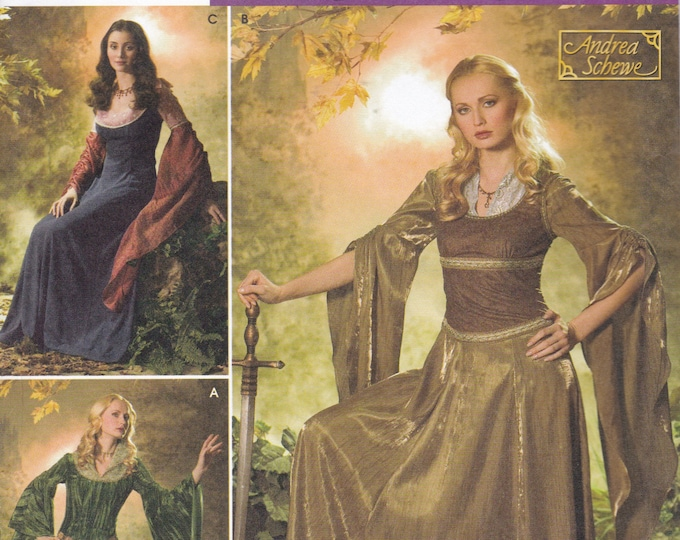 FREE US SHIP Sewing Pattern Simplicity 4940  Halloween Costume Adult New Renaissance Medieval Gown Dres lotr Game Of Thrones Got Size 20-26