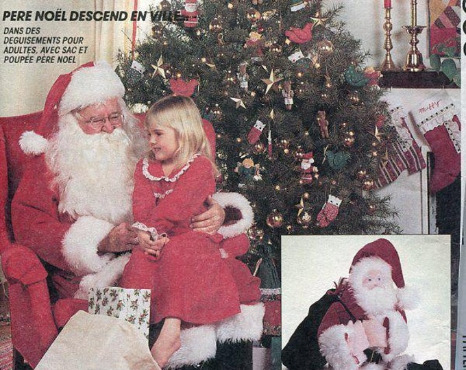 Free Us Ship Sewing Pattern McCall's 5556 Adult Men's Chest 34 36, 42 44  Santa Claus Suit Costume Doll, Toy gift  bag, Matching Doll Uncut