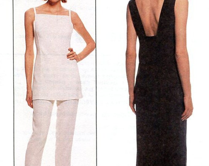 FREE US SHIP Designer McCall's 8823 Designer Lida Baday Line Dress Top Pants 1997 Old Store Stock Uncut Out of Print  Size 4 6 8