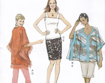 Sleeveless Top /& Pull ... Butterick Ladies Easy Sewing Pattern 6424 Ponchos