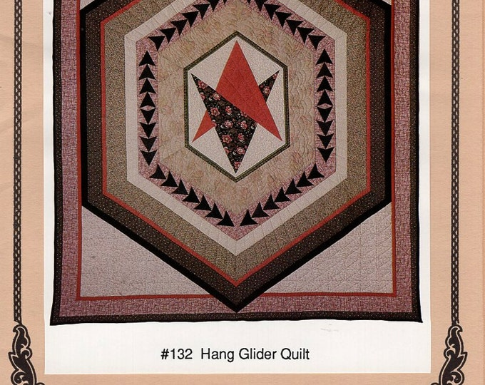Oregon Treasures 1991 Hang Glide Medallion Quilt 132 New Out of Print Craft Sewing Pattern