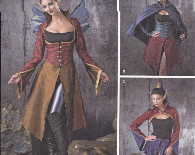 FREE US SHIP Sewing Pattern Simplicity 1138  Halloween Costume Adult New Gothic Goth  Medieval Gown Dres  Size: 6 8 10 12  Bust 30 32 34