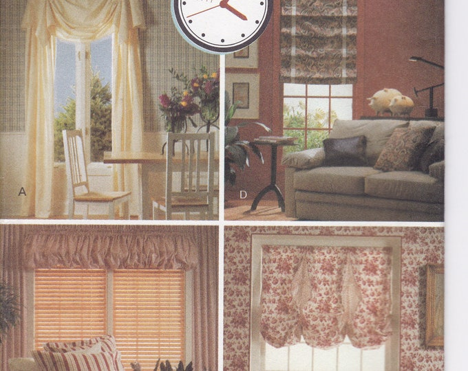 FREE US SHIP  Butterick 5739  Better Homes Window Treatments Sewing Pattern Valance Roman Shades Factory Folded Drapery