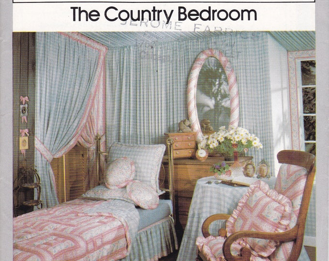 FREE US SHIP Vintage Retro 1970's 70's Country Bedroom Simplicity House 105 Bed Window Treatments Quilt Padded Mirror Frame Rocker Cushion