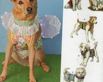 Free Us Ship Sewing Pattern Simplicity 1482 Designer Carla Reiss Dog Costume Fairy Wings Clothes Vest Hat Shirt Coat Uncut Brand New & Dog fairy costume | Etsy