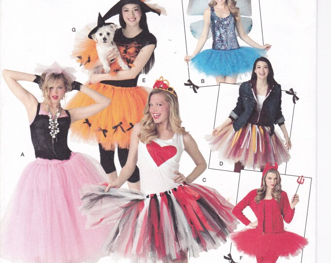 Free Us Ship Sewing Pattern Simplicity 2074 Easy to make costume Tutu Tulle Dance Skirt Fairy Matching Dog Halloween NO SEW