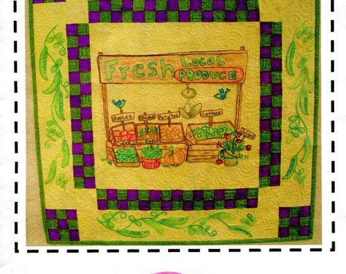 Free Usa Shipping Aunt Mary's Quilt Shop Farm to Market Vegetable Quilt 2015 Craft Sewing Pattern