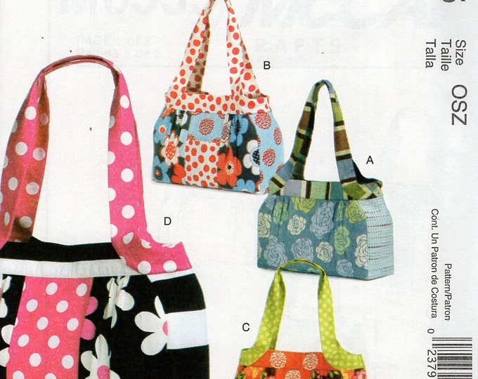 McCall's 6335 Sewing Pattern Free Us Ship Tote Lunch Lined  Bag New Out of Print