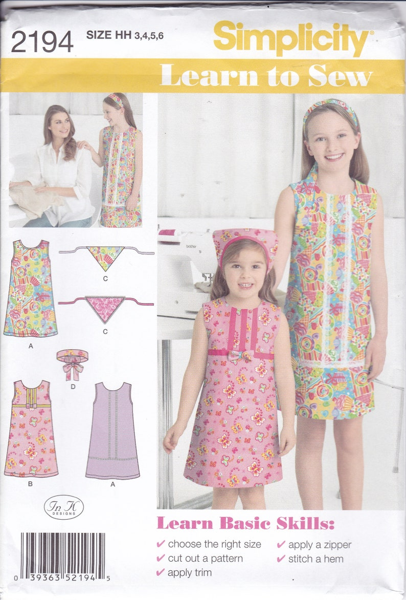 Sewing Pattern Simplicity 2194  New Girls Learn To Sew image 0
