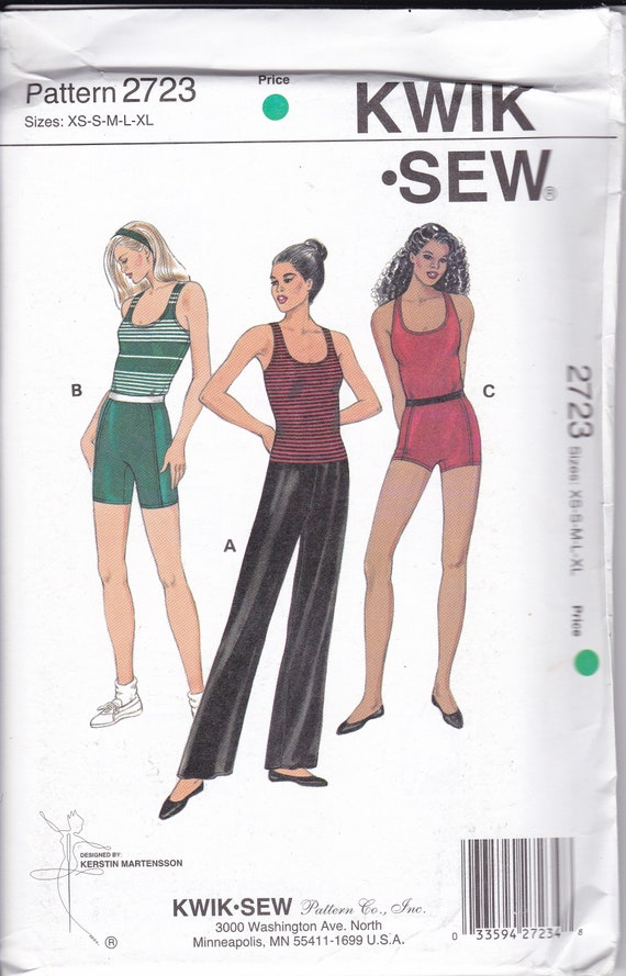 Free Us Ship Sewing Pattern Kwik Sew 2723 Sportswear Sports Etsy