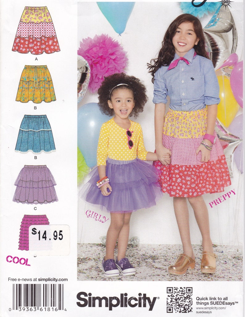 Sewing Pattern Simplicity 1816 Uncut Girls Tiered Skirt Tulle image 0