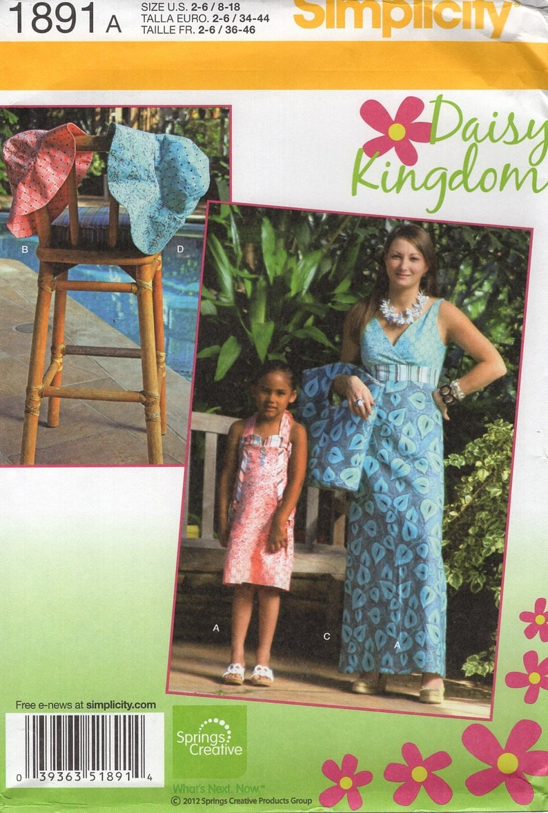 Sewing Pattern Simplicity 1891  Daisy Kingdom Mother Daughter image 0