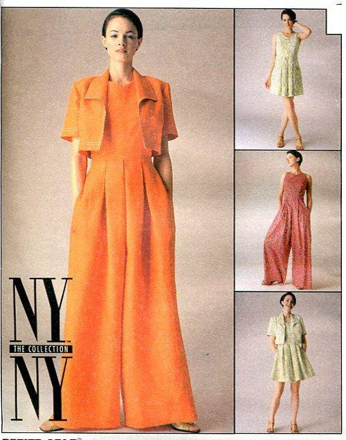 Sewing Pattern Free Us Ship McCall\'s 8782 NYNY Hostess Jumpsuit ...