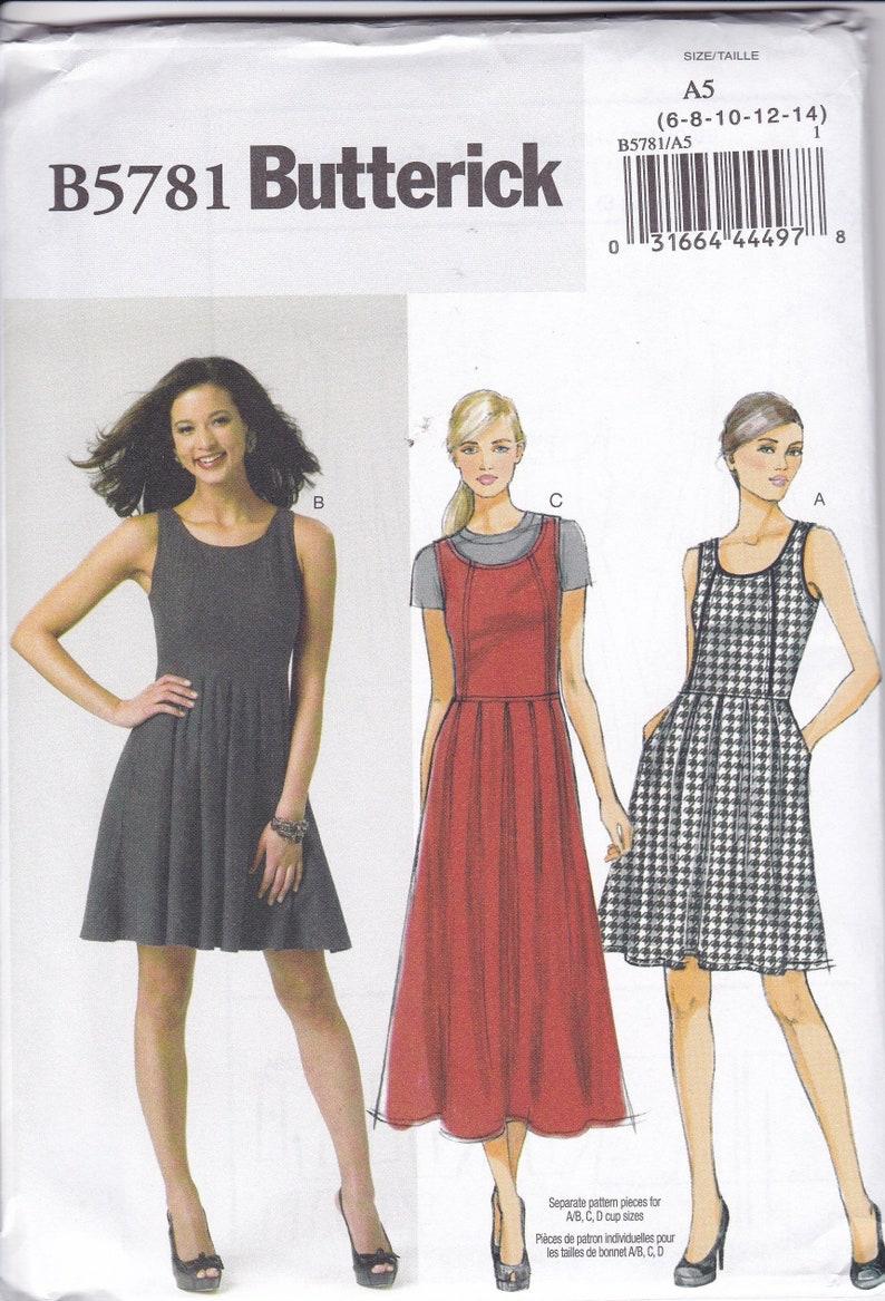 Sewing Pattern Butterick 5781  Sleeveless Summer Dress Jumper image 0