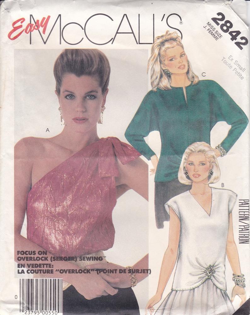 Vintage Sewing Pattern Retro 1980s 80's  McCalls 2842 image 0